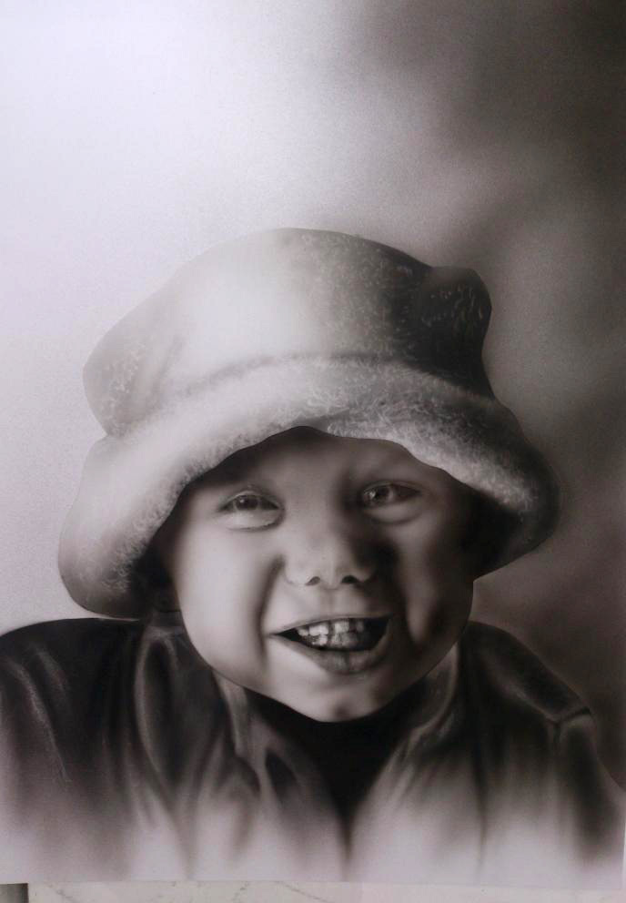 Portrait enfant aérographe