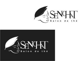 Logo fictif d'un salon de thé en monochrome, réalisé en formation graphiste pao nord pas de calais