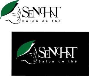 Logo fictif d'un salon de thé en quadricolor, réalisé en formation graphiste pao nord pas de calais